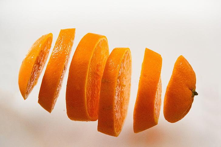 Orange, Makanan, juicy, buah, potong-potong, Disc, buah-buahan