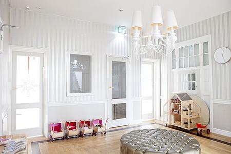 arquitectura, cadira, portes, mobles, casa, l'interior, disseny d'interiors