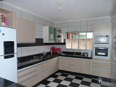 keuken, inbouwkeuken, geplande milieu