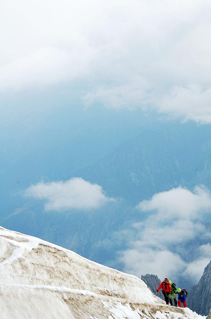 mountain, mountaineering, landscape, escalation, alpine, high mountains, mountaineer
