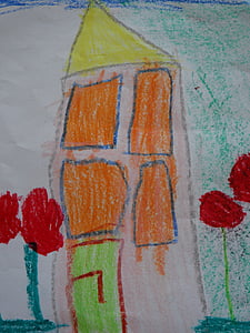 children drawing, drawing, painting, home, color, character development, child