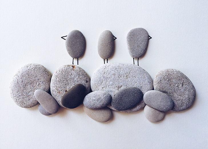 madarak, Beach, természet, tengerpart, Art, kézművesség, sziklák