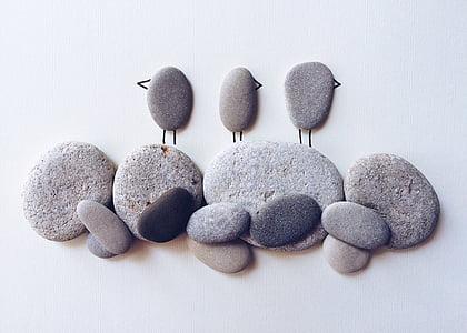 นก, ชายหาด, ธรรมชาติ, ชายฝั่ง, ศิลปะ, งานฝีมือ, หิน