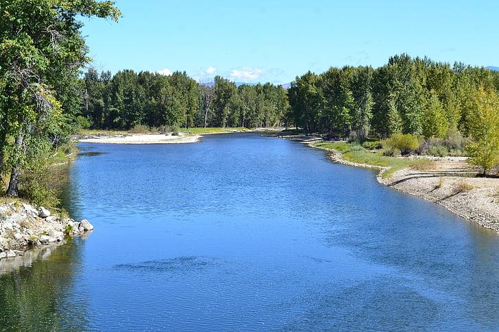 bitterroot river, Hamilton, Montana
