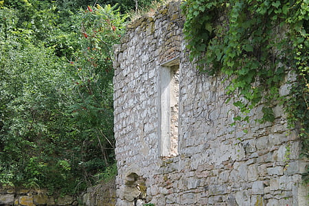 ruïnes, forn de calç, canteria