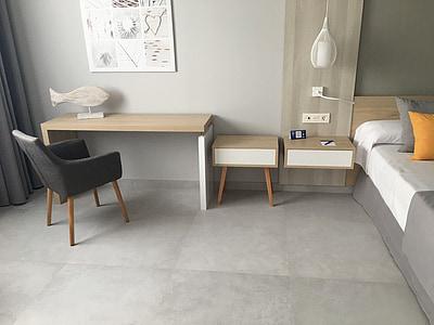 sala, mobles, dormitori