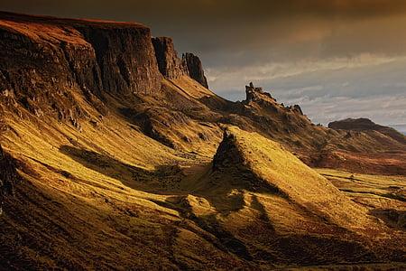 highlands, highlands and islands, isle of skye, landscape, mountains, nature, rock