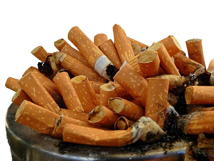 Cendrer, inclinació, burilles de cigarretes, fumar, cendra, burilla de cigarret, cigarrets