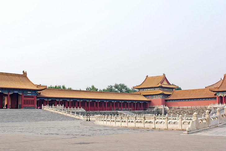 Китай, Пекин, Пекин, Запретный город, Суд, Лестничные перила, пилястры