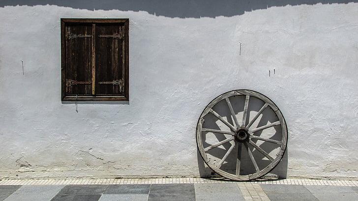Cipar, ostalo, kuća, Stari, tradicionalni, arhitektura, prozor