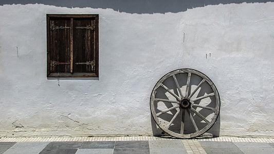 Cypr, Kiti, Dom, stary, tradycyjne, Architektura, okno