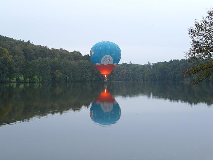 globus, globus aerostàtic, Unitat de voltar, Llac, silenciós, resta, foc