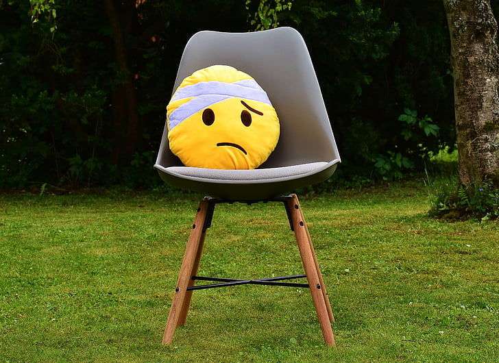 get well soon, smiley, cute, plush, yellow, sad, injured