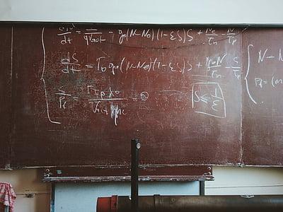 classroom, math, chalkboard, school, education, mathematics, blackboard