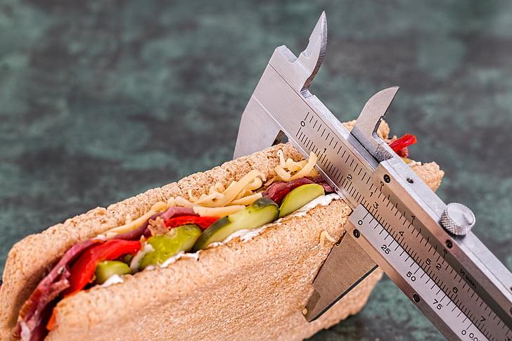 Dieet, kalorite counter, kaalulangus, tervise, toidu, elustiili, salendav