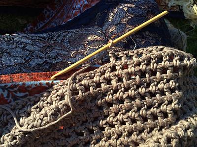 na szydełku, Iglica, ręcznie robione, rzemiosło, Przędza, hobby, bawełna