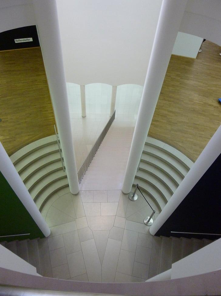 muuseum, arhitektuur, hoonete, trepid, perspektiivi, Moodne arhitektuur, näitus