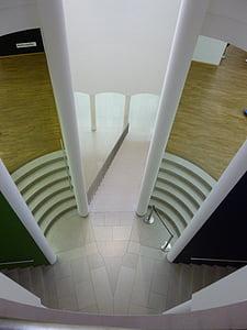 Muzeum, Architektura, budovy, schodiště, Perspektiva, moderní architektura, výstava
