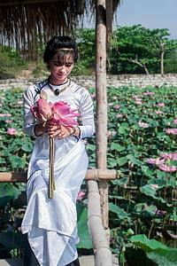 happy days, wedding, vietnam, woman, young, bride, lotus