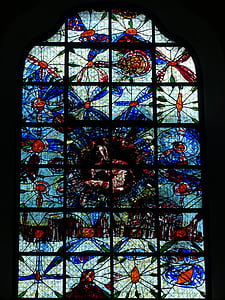 Crkveni prozor, prozor, Crkva, staklo, boja, čišćenja kroz, plava