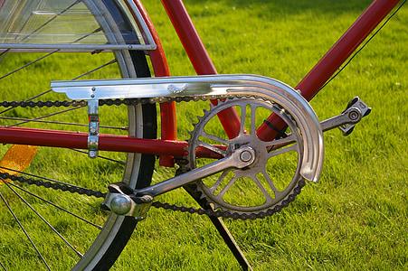 velosipēds, riteņi, divu riteņu transportlīdzekļu, Holandiešu, sarkana, lokomocijas, Nīderlande