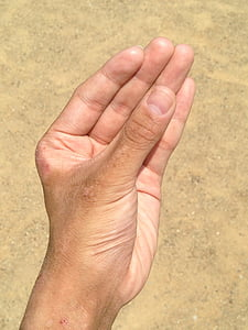 hand, nail, sand, possess, palm, finger, young