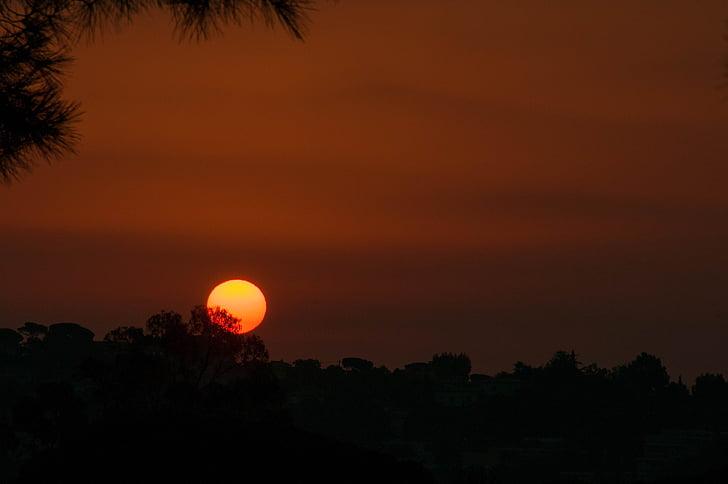 loodus, Sunrise, hommikul, meeleolu, taevas, taevas, päike