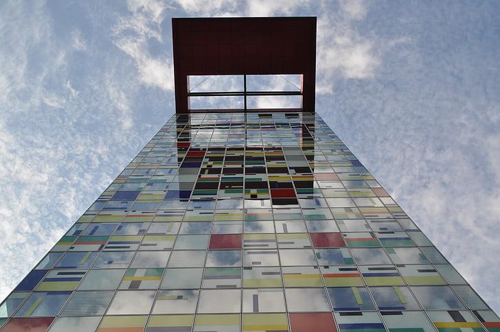 Düsseldorf, Media harbour, arhitektuur, fassaad, kaasaegne, Moodne arhitektuur, Urban