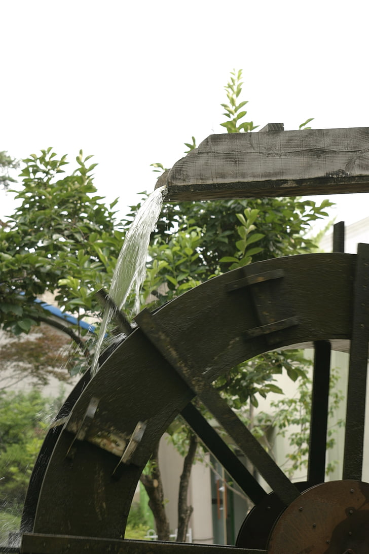 watermill, country, water