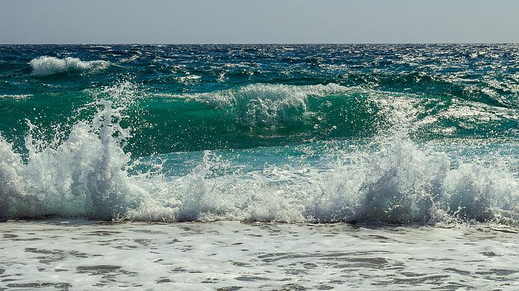 คลื่น, ดีที่สุด, โฟม, สเปรย์, ทะเล, ธรรมชาติ, ลม
