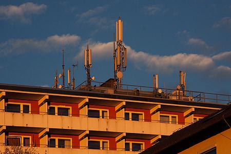 외관, 돛대, 통신, 셀 타워, 송신 탑, 안테나, 타워