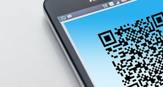 barcode, cellphone, close-up, coded, communication, connection, contemporary