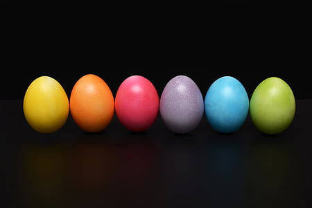 부활절 달걀, 다채로운, 부활절, 행복 한 부활절, 색, 부활절 테마, 달콤한