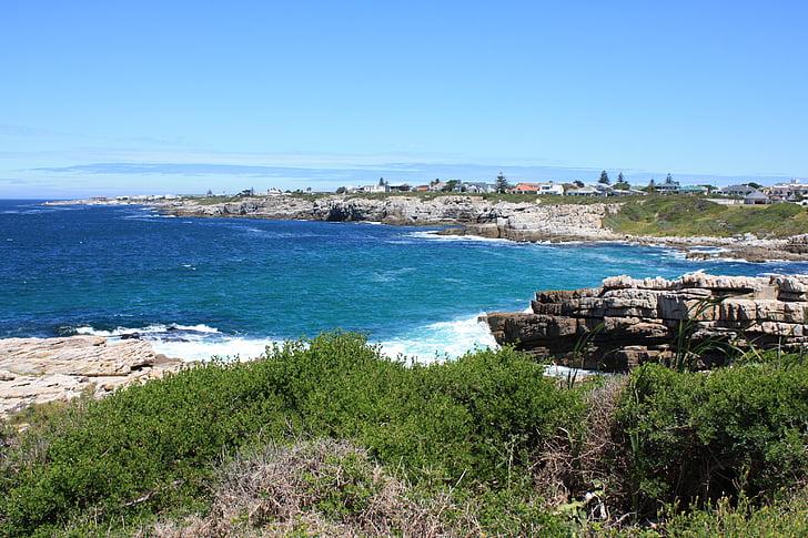 Sydafrika, kusten i hermanus, naturen, Hermanus, Ocean, landskap, kusten
