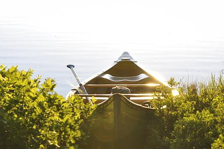 vaixell de fila, barca de rems, somni, Llac, tranquil·la, calma, Rem