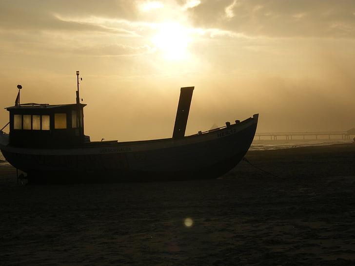 platja, vaixell de pesca, Usedom, Mar, bota, Mar Bàltic, Fischer
