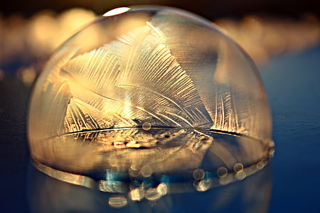 Free Photo Soap Bubble Frost Snow Bubble Eiskristalle