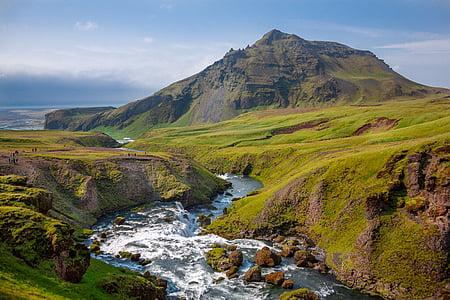 mountains landscape, valley, creek, mountain landscape, landscape, green, scenery