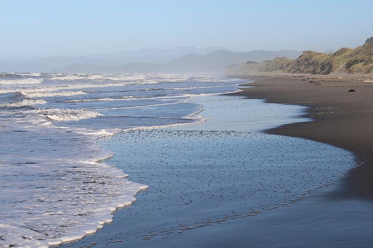 tenger, Új-Zéland, Észak-sziget, tengerpart, Beach, természet, tükrözés