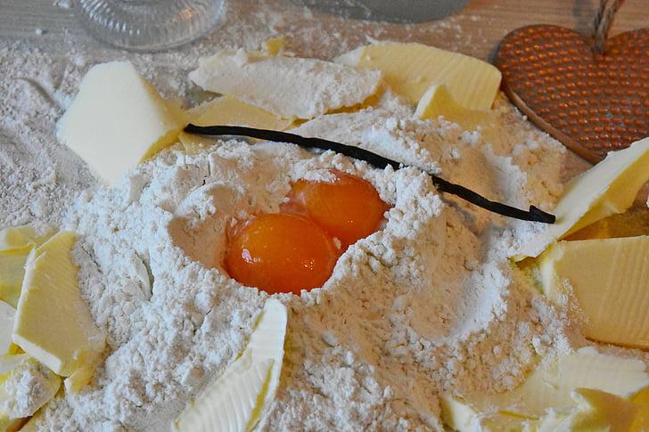 брашно, яйце, масло, захар, Печете, тестото, торта