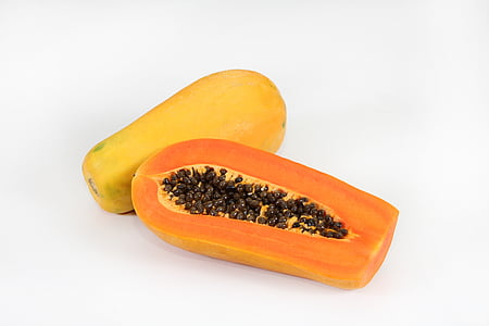 fruit, papaya, food and drink, studio shot, food, healthy eating, freshness