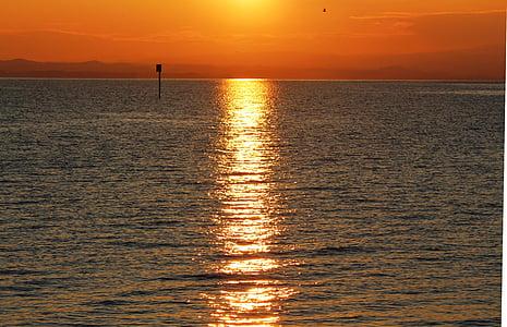 Alba, morgenstimmung, cels, torna la llum, reflectint, Llac, Llac de Constança