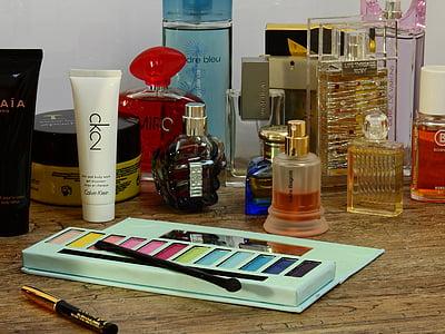 Kosmetik, Schmink, Lidschatten, Bürste, Schminken Pinsel, Farbe, Kajal