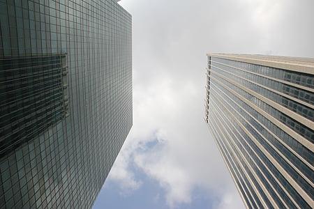 hoonete, linnaruumi, arhitektuur, ärihoone, pilvelõhkuja, panoraam, Office