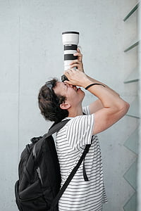 camera, photography, photographer, people, man, guy, backpack