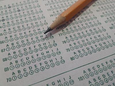 prova, proves, forma de bombolla, mòdul de prova, examen, formulari d'examen, full de bombolla