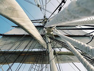rigging, tall ship, sails, ship, boat, mast, vessel