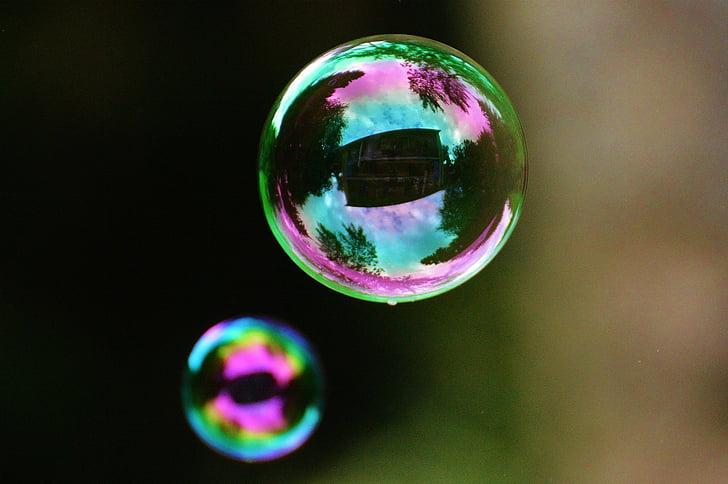 bombolles de sabó, colors, boles, aigua i sabó, fer bombolles de sabó, carrossa, reflectint