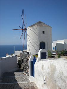 Santorini, Grčki otok, Grčka, marinac, vjetrenjača, Oia