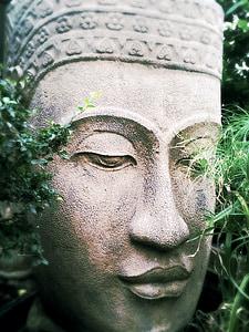 Buda, Zen, relaxació, calma, serenitat, estàtua, cara